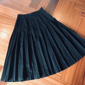 Bergdorf Goodman wool maxi skirt